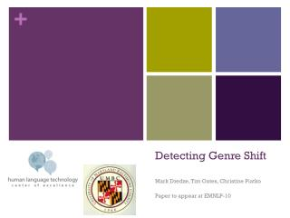Detecting Genre Shift