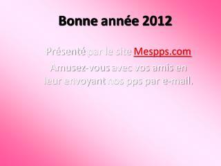 Bonne ann e 2012