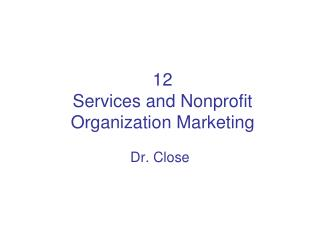 12 Services and Nonprofit Organization Marketing