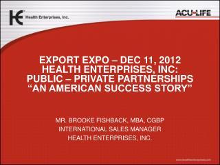 & Health Enterprises, Inc.
