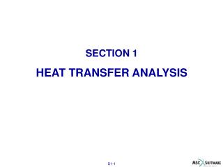 SECTION 1 HEAT TRANSFER ANALYSIS