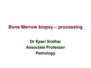 Bone Marrow biopsy � processing