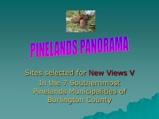 Sites selected for  New Views V