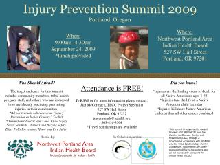 Injury Prevention Summit 2009  Portland, Oregon