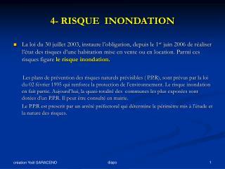 4- RISQUE  INONDATION
