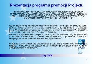 Prezentacja programu promocji Projektu