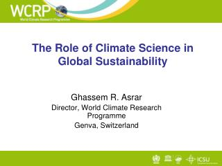 The Role of Climate Science in Global Sustainability