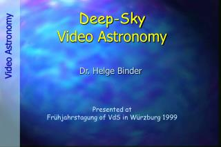 Deep-Sky Video Astronomy