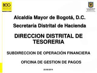 DIRECCION DISTRITAL DE TESORERIA