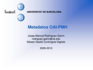 Metadatos OAI-PMH