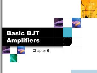 Basic BJT Amplifiers