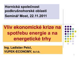 Vliv ekonomick� krize na spot?ebu energie a na energetick� trhy