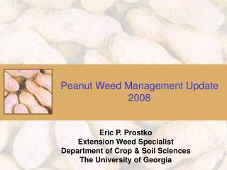 Peanut Weed Management Update 2008