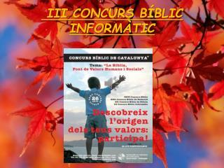III  CONCURS  BÍBLIC INFORMÀTIC