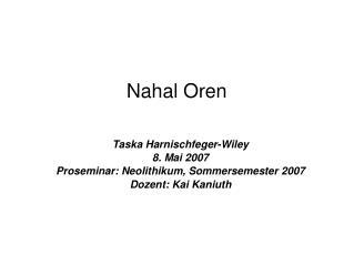 Nahal Oren