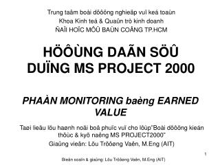 H���NG DA�N S�� DU�NG MS PROJECT 2000