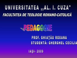 UNIVERSITATEA ,,AL. I. CUZA