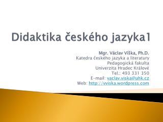 Didaktika českého jazyka1