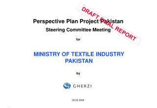 Perspective Plan Project Pakistan Steering Committee Meeting  for