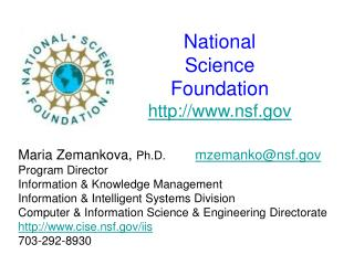 National  Science  Foundation nsf