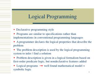 Logical Programming