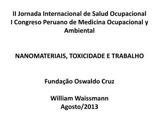 II Jornada Internacional de Salud Ocupacional