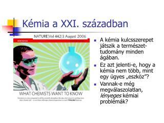 Kémia a XXI. században