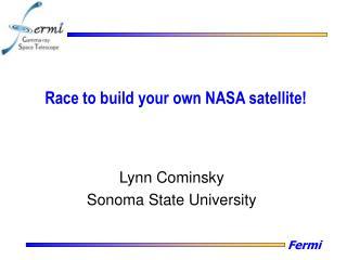 Race to build your own NASA satellite!