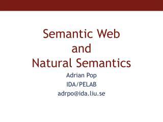 Semantic Web  and  Natural Semantics
