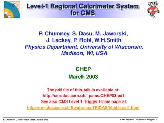 Level-1 Regional Calorimeter System for CMS