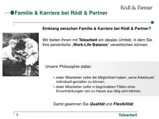 Familie & Karriere bei Rödl & Partner