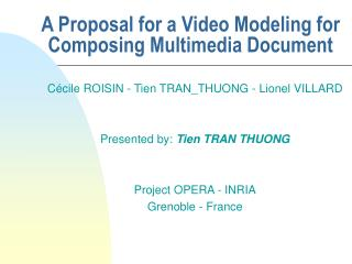 A Proposal for a Video Modeling for Composing Multimedia Document