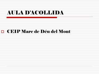 AULA D'ACOLLIDA