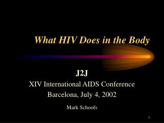 What HIV Does in the Body