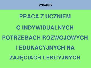 WARSZTATY
