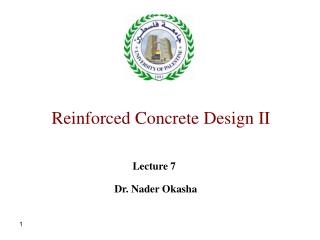 Reinforced Concrete Design II