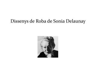 Dissenys de Roba de Sonia Delaunay