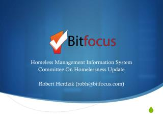 Homeless Management Information System Committee On Homelessness Update