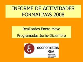 Realizadas Enero-Mayo Programadas Junio-Diciembre