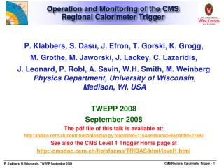 Operation and Monitoring of the CMS Regional Calorimeter Trigger