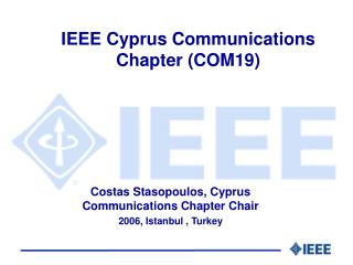 IEEE Cyprus  Communications Chapter (COM19)