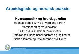 Arbeidsglede og moralsk praksis