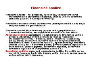 Finansin ė analizė