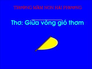 TR??NG M?M NON H?I PH??NG Th�: Gi�a v�ng gi� th�m