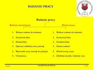BADANIE PRACY