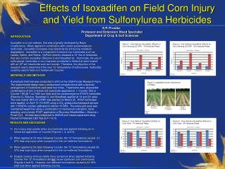 Effects of Isoxadifen on Field Corn Injury and Yield from Sulfonylurea Herbicides