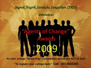 """""""Agents of Change""""         Awards"""