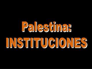 Palestina: INSTITUCIONES