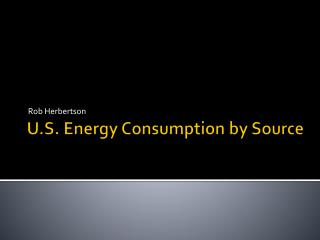 U.S. Energy Consumption by Source