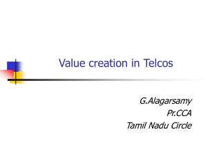 Value creation in Telcos